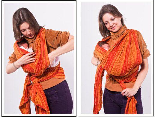 Как носить слинг шарф?